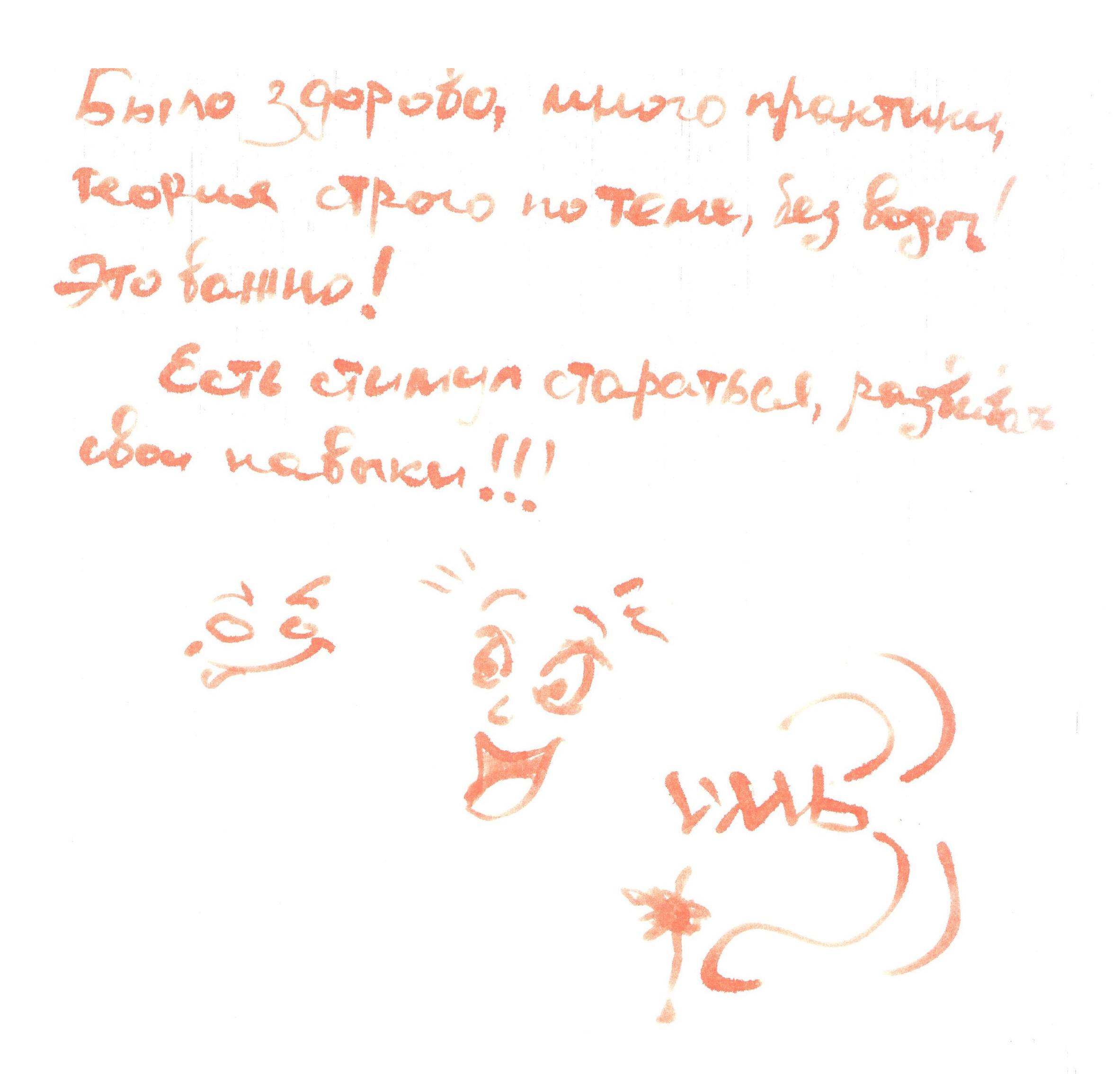 анонимный отзыв об интенсиве Данила Фимушкина в Самаре